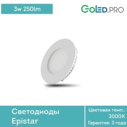 Светодиодная панель GoLED Panel 3w Round